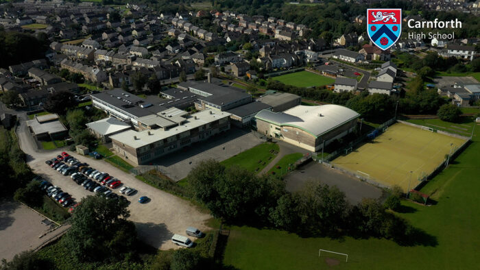 Lancashire High School Promotional Video - Virtual Tour for Open Evening - Drone filming
