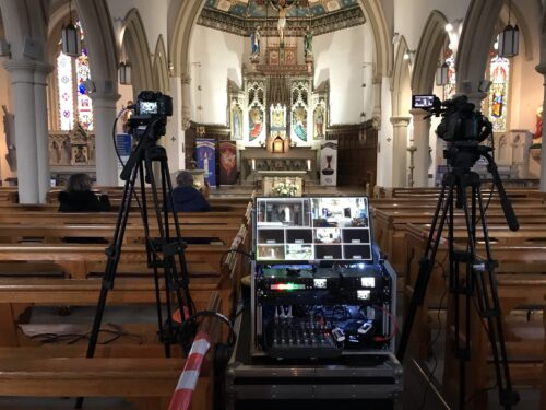 Funeral Live Streaming Webcast Filming in Southport Merseyside
