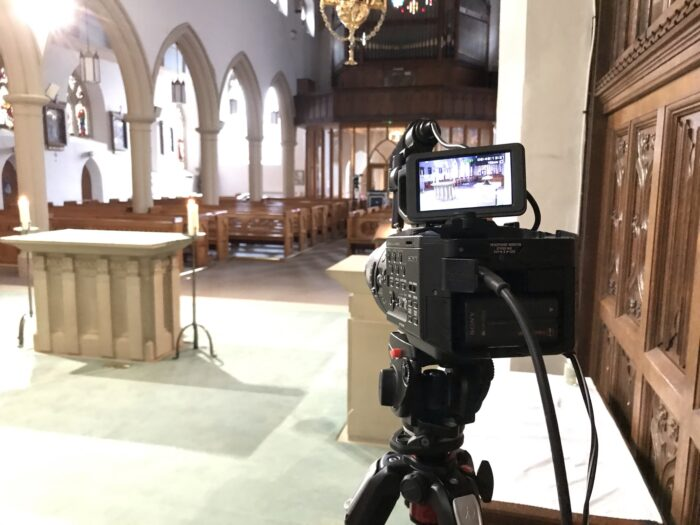 Funeral Live Streaming Webcast videography in Southport Merseyside