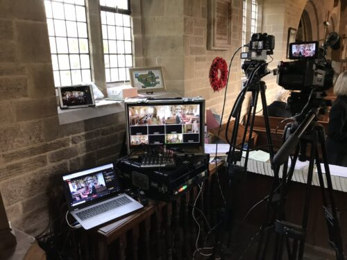 Live Streaming Filming Funeral Video Videogapher in Kirkby Lonsdale, Barbon, Cumbria,