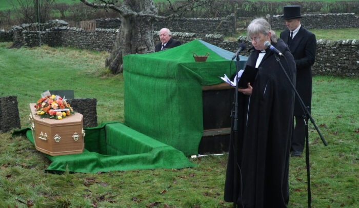 Outdoor Funeral Filming Live Streaming Webcast Kirkby Lonsdale Lancashire service church