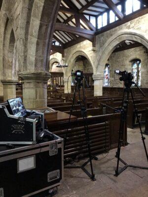 Funeral Live Streaming Webcasting at Woodplumpton, Preston in Lancashire