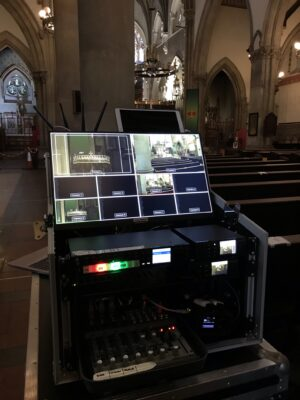 Live Streaming Webcasting Funeral Service at Lancaster Cathedral, Lancashire