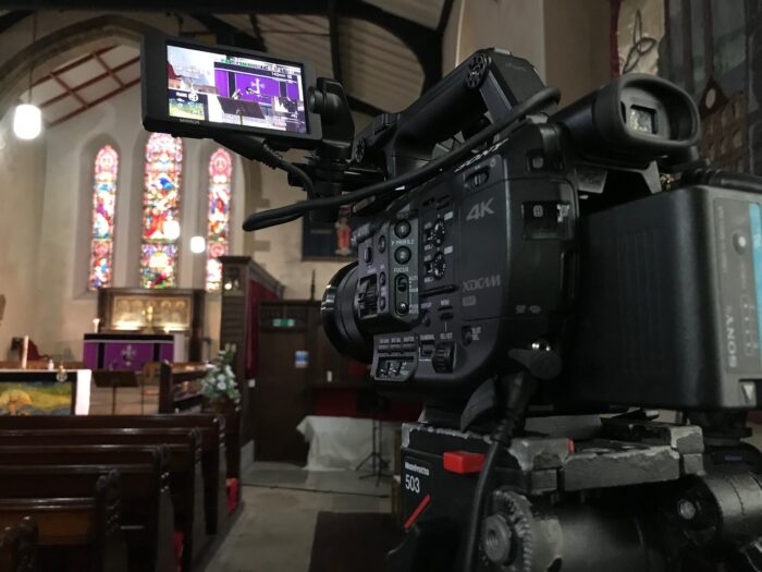 Church Funeral Internet Online Webcasting in Colne near Burnley, Lancashire