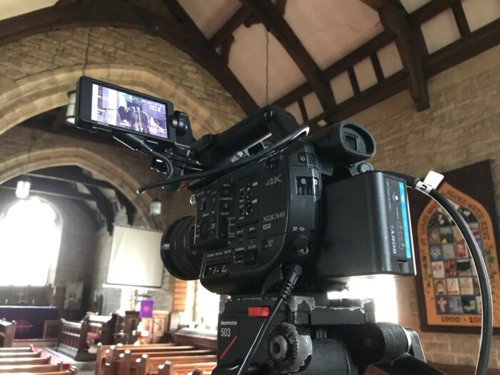 Funeral Live Streaming Webcast at Church in Slyne near Morecambe, Lancashire