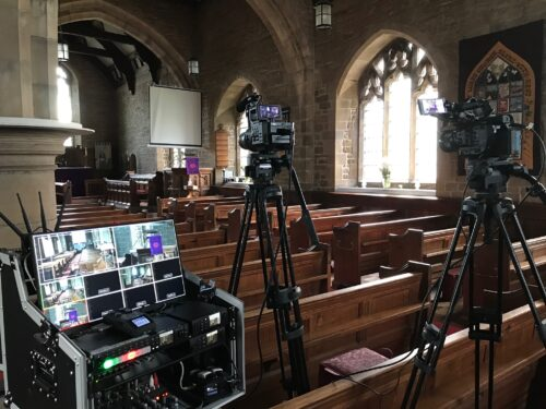 Funeral Live Streaming at Church in Slyne near Morecambe, Lancashire