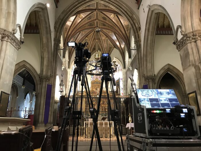 Holy Week Lancaster Catherdral Service Webcasting Streaming Lancashire