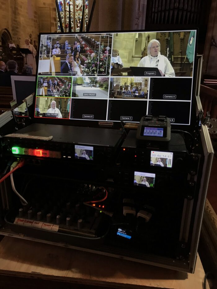 Wedding Live Streaming in Silverdale Church, Lancashire. Webcasting