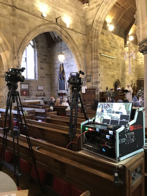 Wedding Live Streaming webcast in Silverdale Church, Lancashire